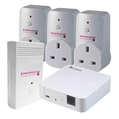 Energenie mihome Monitor de consumo de energía Socket & Gateway Set