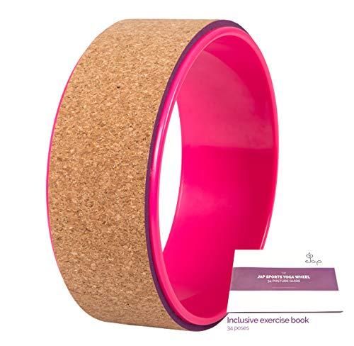 JAP Sports - Yoga Wheel - Yoga Rad - [Pro Series] Stärkstes und bequemstes Dharma Yoga Prop Rad, perfektes Zubehör zum Dehnen und Verbessern von...