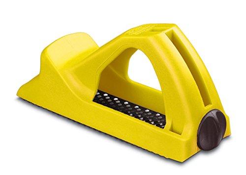 Stanley Surform Cepillo corto plástico 155mm 5-21-104, Negro/Amarillo, 155 mm