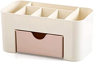 Drawer Cosmetic Storage Box Makeup Brush Finishing Box Desktop Jewelry Skin Care Compartment (Size: 22 * 10 * 10.3cm) (Color : Pink, Size : 22 * 10 * 10.3cm)