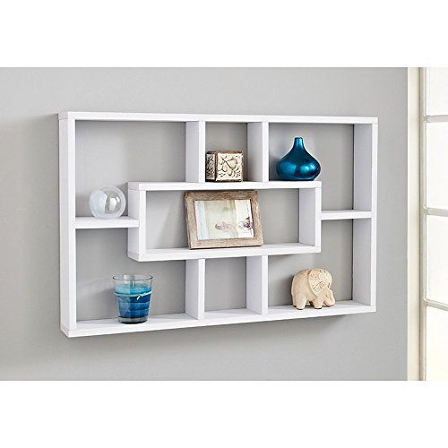 spot on dealz Stylish And Attractive Space Saving Multi-Compartment Wall Shelf/Shelves Display Unit (White)
