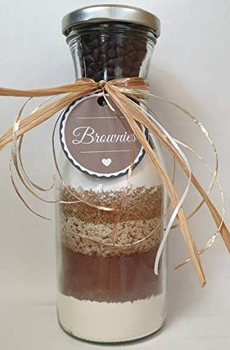 Backmischung Brownies im 500ml Glas/Flasche
