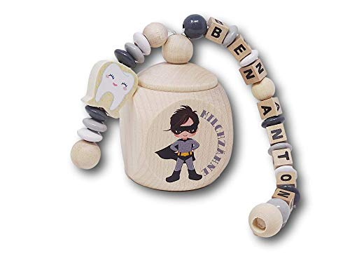 Milchzahndose Junge/Milchzahndose mit Namen/Zahndose Junge
