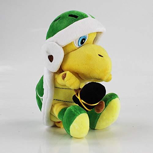 Super Mario Bros Luigi Shy Guy Toad Birdo Flying Fish Kamek Peach Yoshi Koopa Troopa Bowser Diddy Kong Knuffel Gevulde poppen, 23 cm groene Troopa