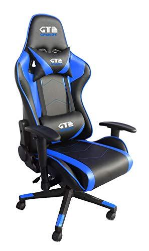 Gammec Poltrona da Gaming GT2 Blu/Nera - GT2BLU - Sedia Gaming