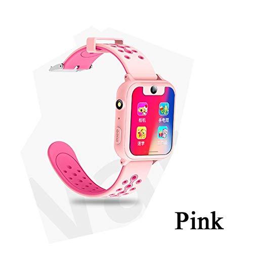 Smart Watch, LBS Tracker PAS-Anruf Fernkamera Locator Kind Tracker Uhr Smart Watch Baby für Ios und Android,Blau