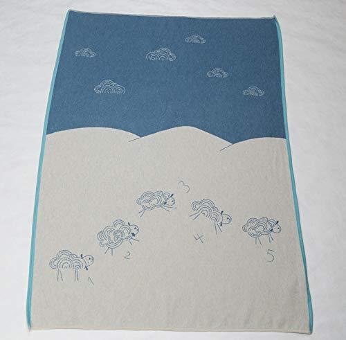 David Fussenegger Kinderdecke Eco Schafe 1,2,3,4,5 100 x 140 cm Blau