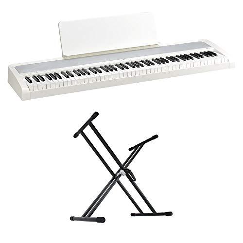 KORG B2 WH 電子ピアノ Dicon Audio KS-020 X型キーボードスタンド 2点セット