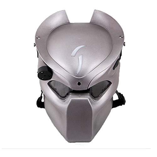Táctico de Protección Paintball Airsoft Metal malla y Predator CS campo lámpara de infrarrojos, Full Face máscara Worldshopping4U