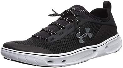 Under Armour Men's Kilchis Sneaker, Black (002)/White, 11.5