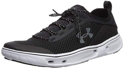 Under Armour Men's Kilchis Sneaker, Black (002)/White, 11.5