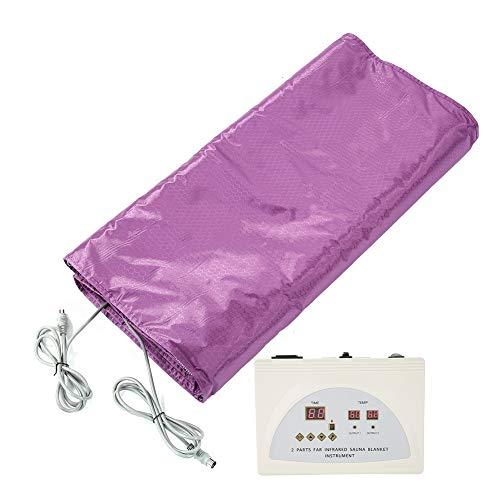 Saunatetapijt voor thuis, ontgifting, op afstand bediend, infrarood sauna verwarmingsdeken voor het lichaam, afslanken, anti-aging deken, ontgifting, waterdicht US