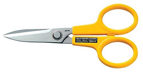Olfa SCS-2 - Tijeras multiusos de gran precisión con cuchillas dentadas de acero inoxidable (170 mm)