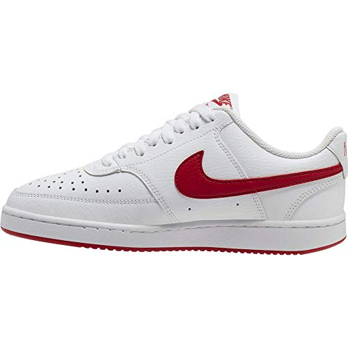 Nike Damen WMNS Court Vision Low Sneaker, Weiß (WHITE/UNIVERSITY RED-WHITE), 40 EU