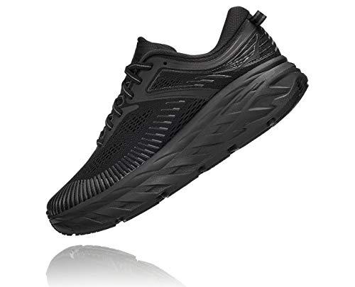 HOKA ONE ONE Women's Bondi 7 Running Shoe, Black/Black, 7.5