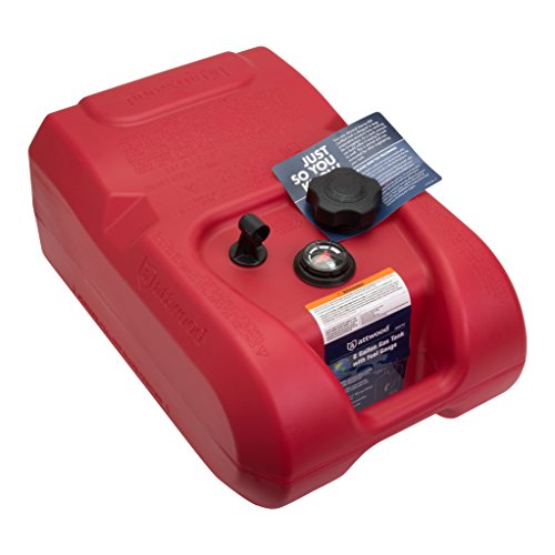 Attwood 8806LPG2 EPA and CARB Certified 6-Gallon Portable Marine Boat Fuel Tank with Gauge