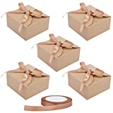Cajas Cartón Kraft Marrón (50 Piezas) - 12x12x6cm Cajas Regalo Carton con...