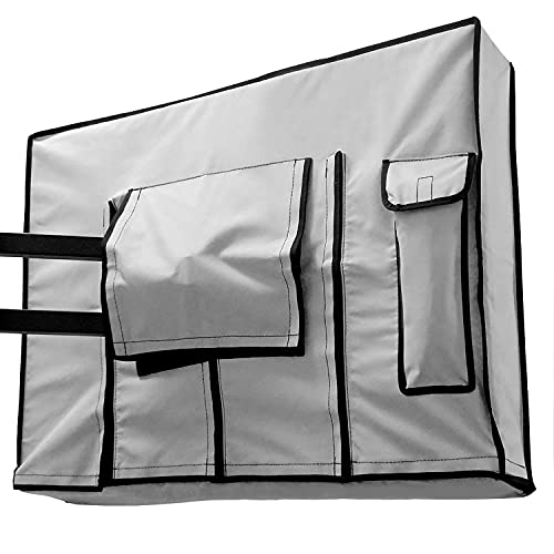 Outdoor TV Cover 48, 49, 50 inch - Weatherproof Protector for Flat TVs with Bottom Seal, 600D Waterproof Material - GRAY - Extends TV service life