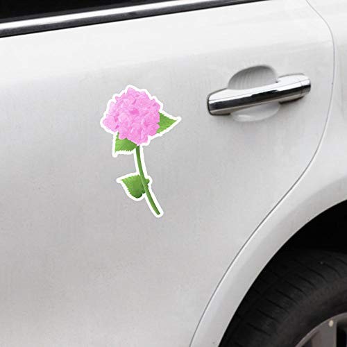 TJJL Car Stickers 8.9X15CM Pink Flower Car Stickers Accessories Bumper Decal