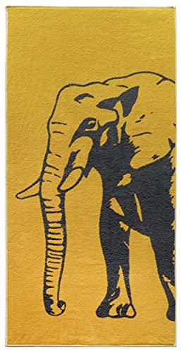 Lashuma Toalla de playa de elefante, moderna toalla de baño 75 x 150 cm, toalla de playa naranja ⭐