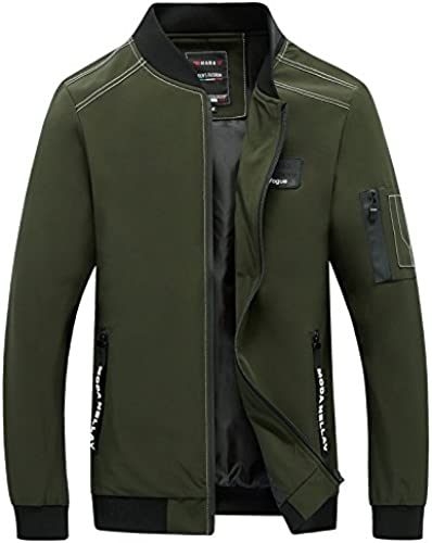 Vjibmt Petite Veste Collier Hommes Hommes Hommes Veste Collier mode Slim Veste d'hiver,armée vert,3XL