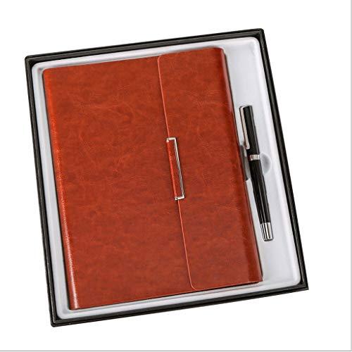 HJHJ Cuadernos Paquete de Regalo Notebook, se Incluye la Firma de la Pluma/Caja de Regalo/Bolso/Notebook Hardcover Revistas Premium Papel Grueso Diario, 5.5