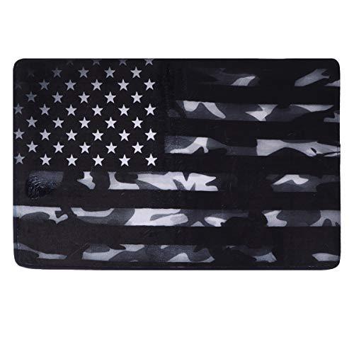 ABOOFAN 1 alfombrilla antideslizante para cocina, con bandera americana, antideslizante, para el suelo, antideslizante, para el suelo, alfombra de franela, lavable, para el hogar (colores surtidos)