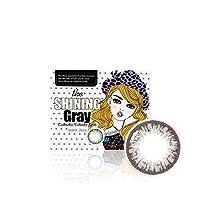 [2枚入り] シャイニンググレー(Shining Gray) by OLENS カラコン 1Month 1ヶ月 マンスリー 度あり度なし 14.2mm 全色選択可能 (グレー(GR), PWR: -6.50)