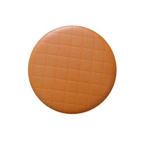 rosavida Wasserdicht rund Hocker Kunstleder Gitter rund Barhocker Sitzbezüge 13.7inch/35cm Orange