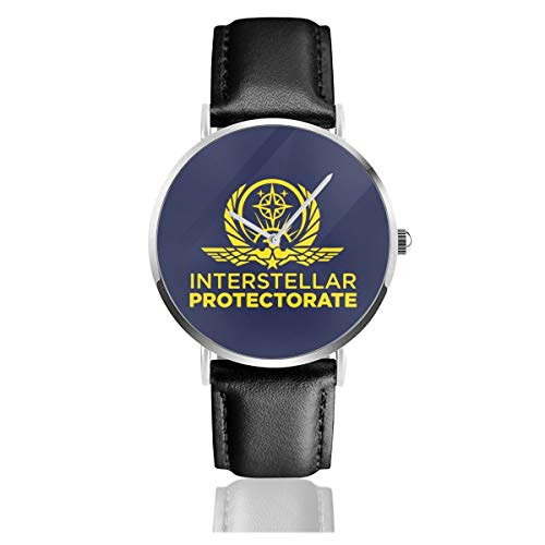 Unisex Business Casual Interstellar Protectorate Altered Carbon Trucker Cap Uhren Quarz Leder Uhr mit schwarzem Lederband für Männer Frauen Young Collection Geschenk