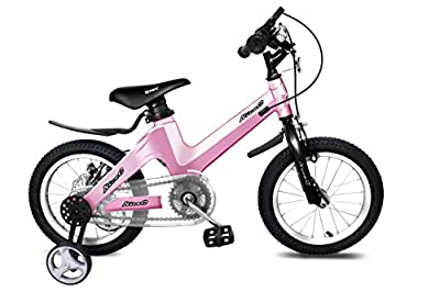 """NiceC BMX Kids Bike with Dual Disc Brake for Boy and Girl 12-14-16-18 inch Training Wheels (16"""" Pink)"""
