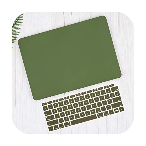 Keyboard Cover For 2020 for Macbook Pro 13 16 TouchBar A2289 A2159 Air 13 A1932 2020 A2179-Army green-Pro 15 Retina A1398