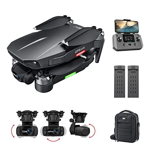 BaiTTang 4K UHD GPS.Drone con Motore brushless for Adulti,3-Axis Gimbal +Stabilizzazione Elettronica dell'immagine,5GHz FPV.Video in Diretta Rc.Quadcopter,Doppia Batteria +Sacchetto di stoccaggio