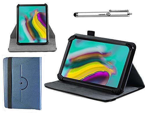 """Preisvergleich Produktbild Navitech blau Ledertasche mit 360 Drehständer und Stift kompatibel mit dem Acer Iconia Tab Black & Gold 10"""""""