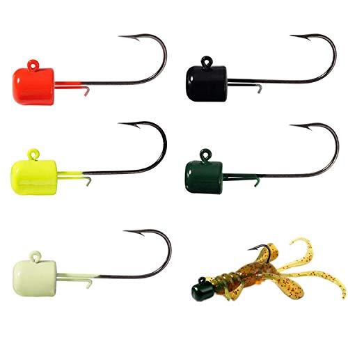 25 Confezioni Di Ganci Per Basso Ned Rig Shroom Jig Heads Fishing Mushroom Hooks Kit Kit Di Ganci Crappie Jigs Head Per L esca Morbida 7 g