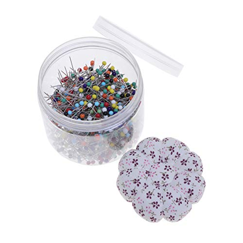Multi-Color Ball Head Pins with Pin Cushion Lid Straight Quilting Pins for Dressmaker Jewelry Decoration 500pcs Sewing Pins