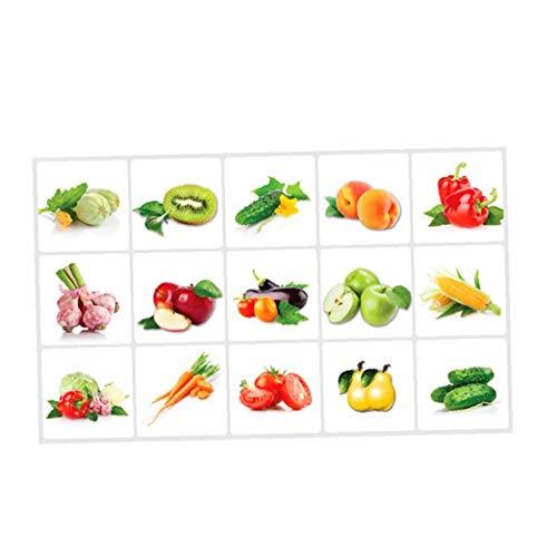 xuew Verduras Creativas Modernas Pegatinas de Pared Cocina Sala Antecedentes Pegatinas de Pared Decoración de Pared 30 * 60cm