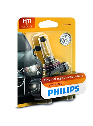 Philips 12362B1 H11 Standard Halogen Replacement Headlight Bulb, 1 Pack