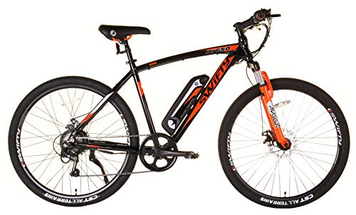 Swifty Electric Mountain Bike, Black/Orange