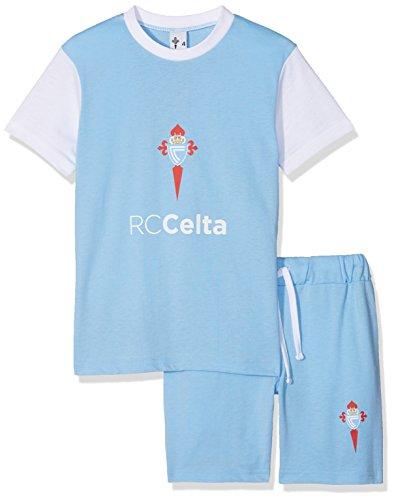 R.C. Celta de Vigo Pijcel Pijama Corta, Infantil, Multicolor (Azul celeste/Blanco), 08
