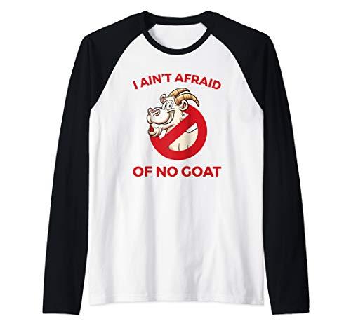 I Ain't Afraid of No Goat Funny Chicago Raglan Baseball Tee