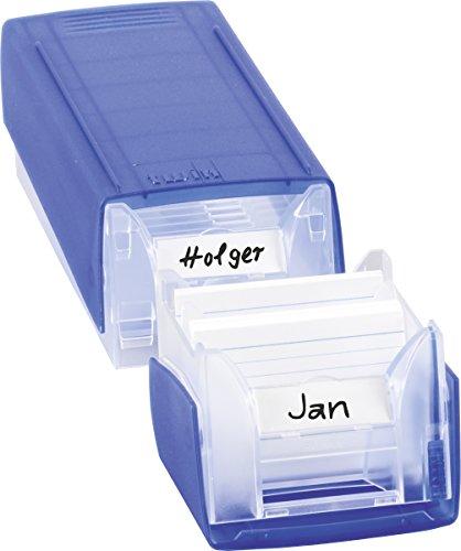 Brunnen 102058534 Karteikasten / Twinboxx (für Karteikarten, A8, gefüllt mit 100 linierten Karteikarten) blau