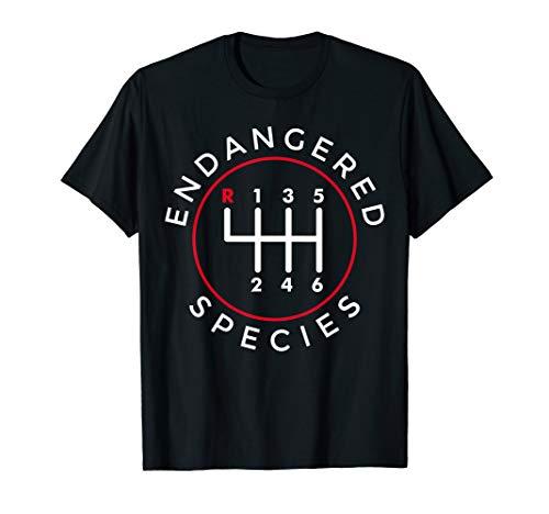 Endangered Species Manual Gearbox Stick Shift 6 Speed T-Shirt