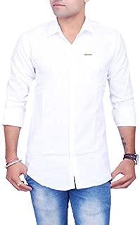 La Milano Solid Casual Shirt for Men White