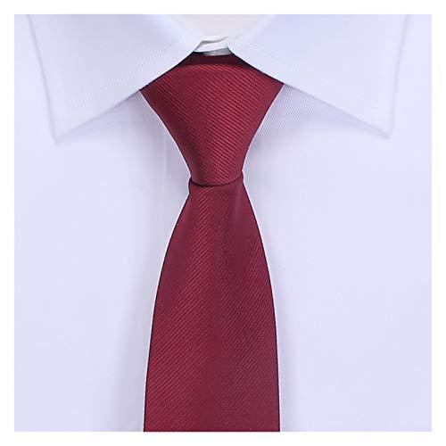 Dongxiao Color de Color Sólido Corbatas Classic 100% Poliéster Corbatas Bodas Lazo de Negocios para Hombre y Niños (Color : Red)
