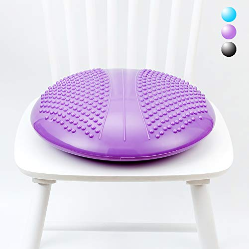 StrongTek Extra Large Balance Disc Wobble Cushion with Premium Chair Fabric Cover, Stability Core Trainer for Home or Office Desk Chair, Kids Alternative Classroom Sensory Wiggle Seat