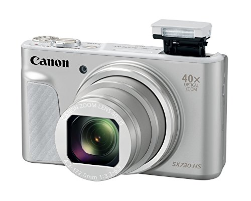 Canon Cameras US 1792C001Canon PowerShot SX730 Digital Camera w/40x Optical Zoom & 3 Inch Tilt LCD - Wi-Fi, NFC, & Bluetooth Enabled (Silver), 6.30 Inch x 5.80 Inch x 2.70 Inch