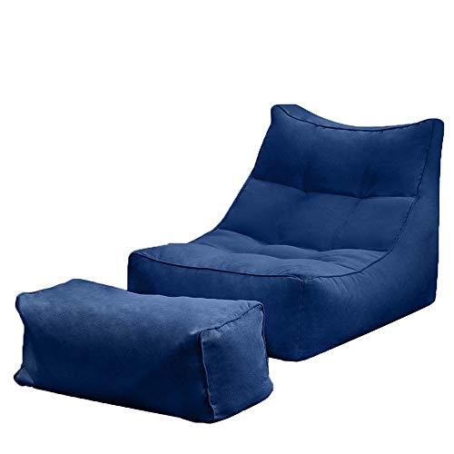 R & R Enterprises Home Sitzsack Lazy Sofa Recliner Gaming Sitzsack Indoor Outdoor Tatami Stuhl (Color : Gray, Size : One Size)