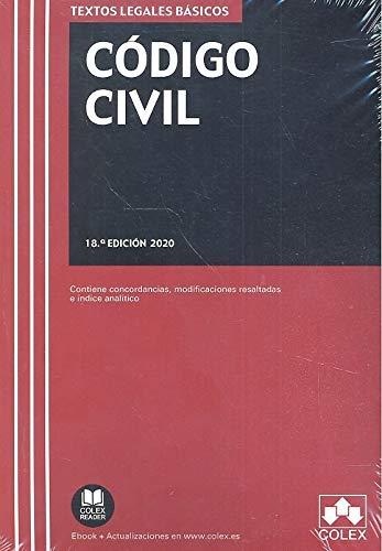 Código Civil: Texto legal básico con concordancias, modificaciones resaltadas e índice analítico: 1 (TEXTOS LEGALES BASICOS)