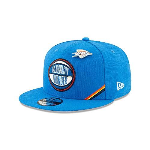 New Era NBA Oklahoma City Thjunder 9FIFTY Draft On-Stage 2019 Snapback Hat, Adjustable Blue Cap